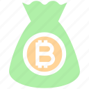 bag, bitcoin, cryptocurrency, currency, money, money bag, savings