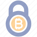 bitcoin, bitcoin lock, cryptocurrency, lock, protection, safe cryptocurrency, security
