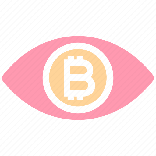 Bitcoin, cryptocurrency, eye, finance, money, scan, vision icon - Download on Iconfinder