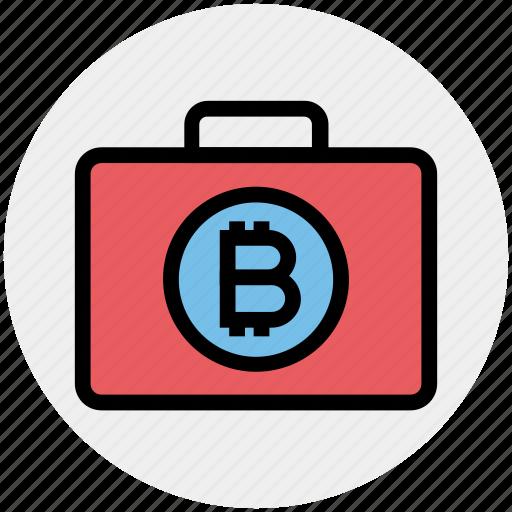 bag, bitcoin, bitcoin related business, bitcoin related company, bitcoin related job, briefcase, cryptocurrency business icon