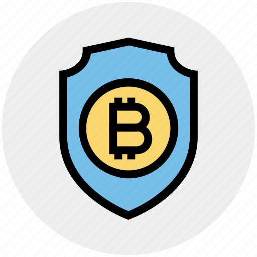 bitcoin, investment, protect, protection, security, shield, transaction icon