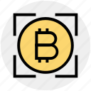 bank, bitcoin, bitcoins, coin, cryptocurrency, currency, money icon