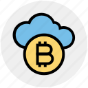 money, cloud computing, blockchain, bitcoin, crypto, currency, cloud icon