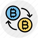 bitcoin, bitcoins, buy, cash, cryptocurrency, money, transfer icon