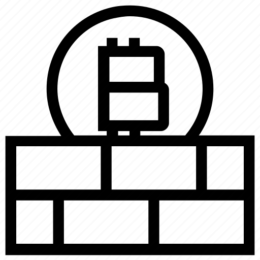 Bitcoin, blockchain, brick, cryptocurrency, digital money, protect, wall icon - Download on Iconfinder