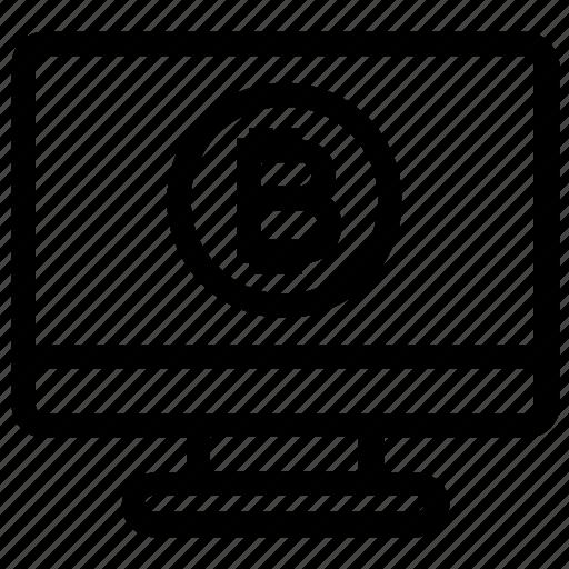 bitcoin, display, lcd, lcd monitor, monitor, screen, television icon