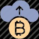 arrow, bitcoin, cloud, cloud computing, coin, cryptocurrency, up