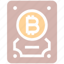 backup, bitcoin, computer, device, disk, hard, hard drive