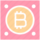 backup, bitcoin, computer, device, disk, hard, hard drive icon