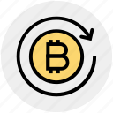 bitcoin, blockchain, exchange, online, sync, transaction, transfer icon