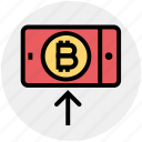 bitcoin, interface, mobile, online, smartphone, technology, up