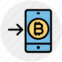 bitcoin, interface, left, mobile, online, smartphone, technology