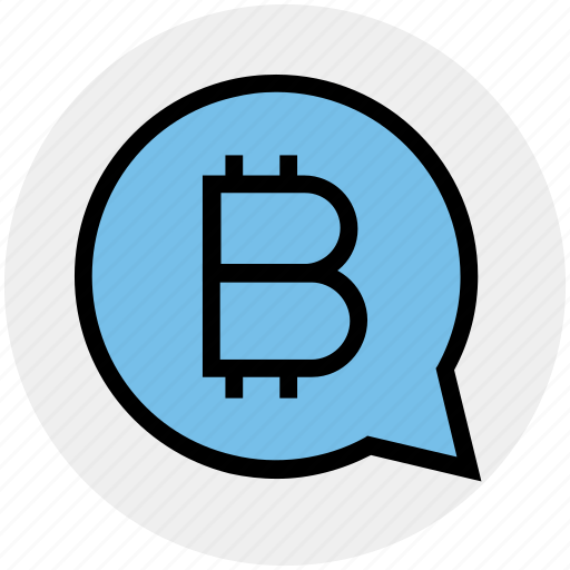 Bitcoin, blockchain, coin, cryptocurrency, finance, message, money icon - Download on Iconfinder