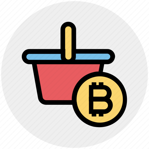 Basket, bitcoin, cart, cryptocurrency, mining cart with bitcoin, shopping, shopping cart icon - Download on Iconfinder