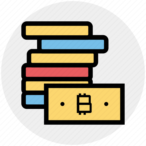 Bitcoin, blockchain, cash, currency, dollar, money, notes icon - Download on Iconfinder