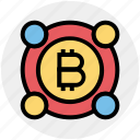 bitcoin, coin, commerce, currency, digital currency, money, payment icon
