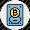 backup, bitcoin, computer, device, disk, hard, hard drive
