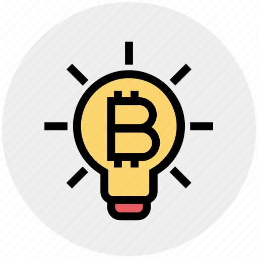 Bitcoin, bulb, cryptocurrency, idea, innovation, light, light bulb icon - Download on Iconfinder