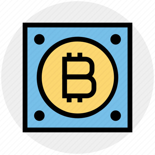 backup, bitcoin, computer, device, disk, hard, hard drive icon