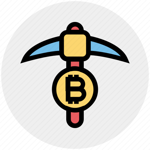 Axe, bitcoin, crypto, cryptocurrency, miner, pick axe, processing icon - Download on Iconfinder