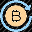 account, bitcoin, blockchain, exchange, money, online, sync, transaction, transfer icon