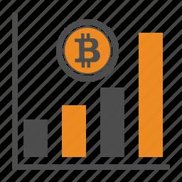 bitcoin, bitcoins, chart, price icon