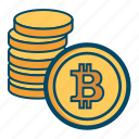 bitcoin, coin icon