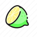 drink, fruit, juice, lime icon