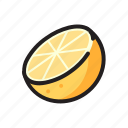 food, fruit, juice, orange icon