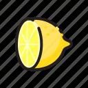 food, fruit, fruits, healthy, lemon, split icon