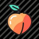 food, fruit, fruits, healthy, peach icon
