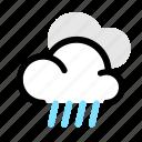 cloudy, heavy, rain, weather icon