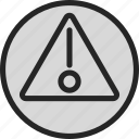 attention, danger, focus icon