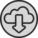 cloud, download, online, server, storage, store icon