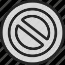 danger, forbidden, stop icon