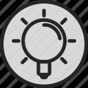 eureka, idea, light, lightball icon