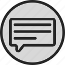 message, text, text balloon icon