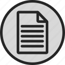 letter, note, page, text icon
