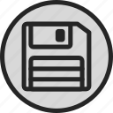computer, disk, floppy, floppy disk, save, save as, store icon