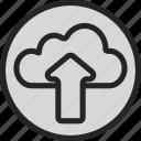 online, online storage, server, storage, upload icon