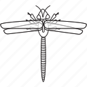 art, bug, bugs, bw, dragonfly, graphic, insect icon