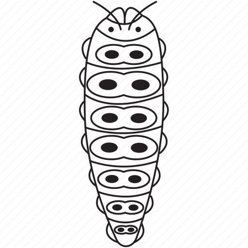 art, bug, bugs, bw, caterpillar, graphic, insect icon