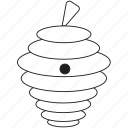 art, beehive, bug, bugs, bw, graphic, insect icon