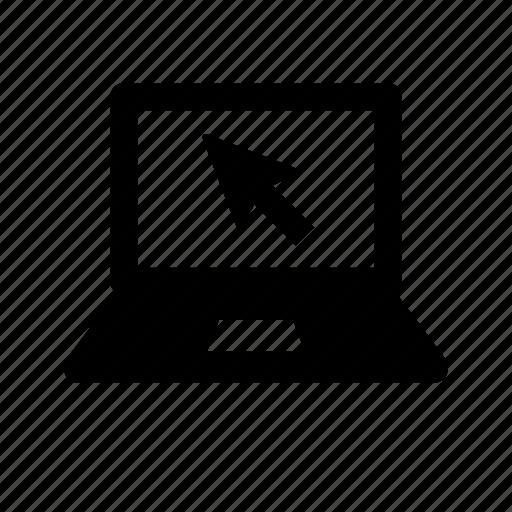 arrow, communication, computer, internet, laptop, portable, technology, wireless icon