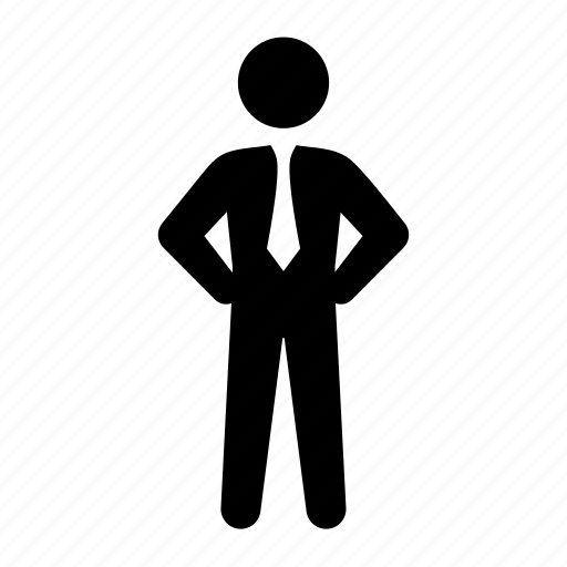 boss, business, businessman, dress code, formal, standing, stick figure, suit, tie icon