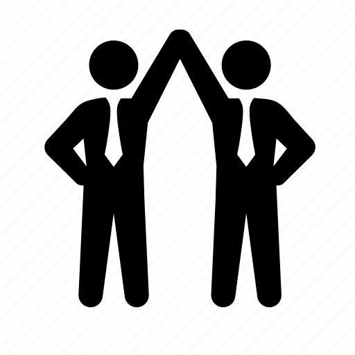 business, businessmen, deal, formal, hold hands, partnership, stick figure, suit, tie, truce icon