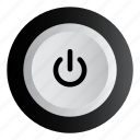 music, off, on, play, power icon