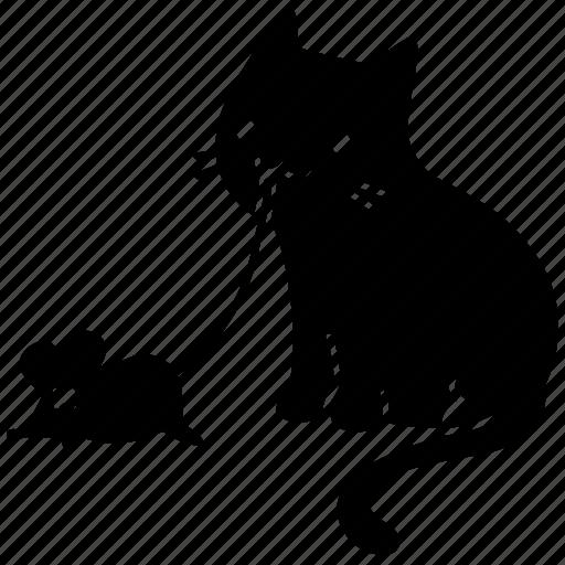 animal, cat, cute, feline, meow, mouse, pet icon