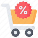 trolley, sale, discount, black friday, shopping, cart, offer icon