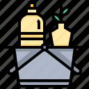 basket, bottle, product, shopping